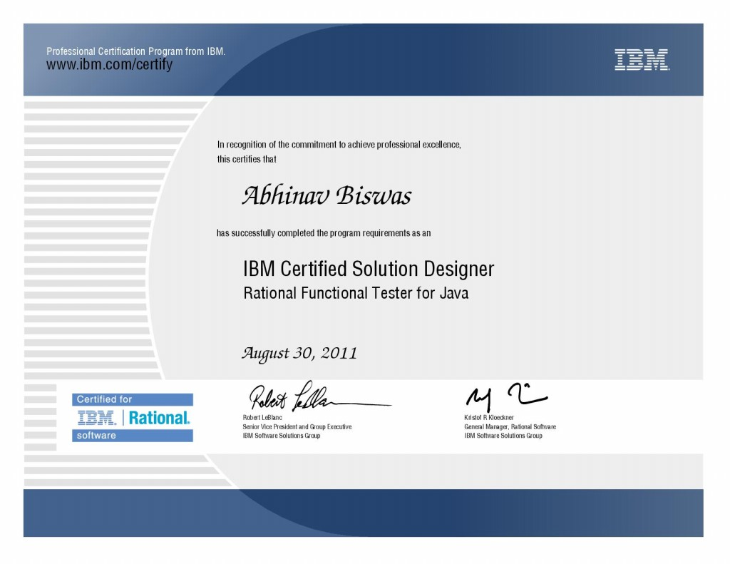 IBM Certified Solutions Designer
